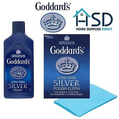 Goddards Silver Jewellery Polish Cloth Cleaner Clean Silver Dip Protect Shine