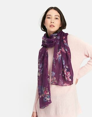 Joules Womens Wensley Scarf in Plum Floral in One Size