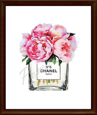 A4 Coco Chanel Fashion Print Digital Art Wall Decor Picture Home Bedroom Gift