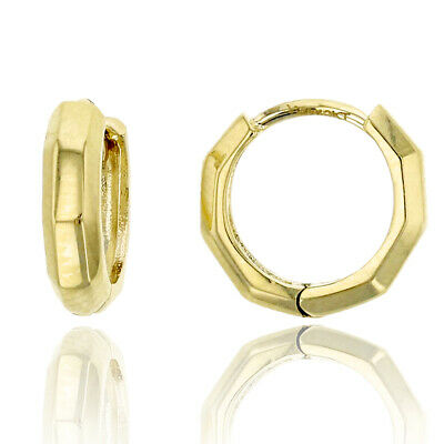 14k Yellow Gold 2.70mm Polish Oval Twisted Hinged Hoop Earrings 0.9INx0.4IN