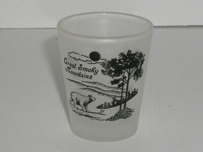 Souvenir Great Smoky Mountains USA Frosted Shot Glass