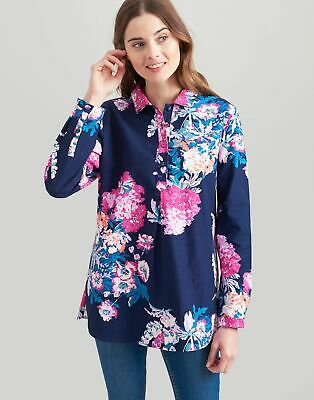 Joules Womens Sheringham Pop Over Shirt in NAVY FLORAL Size 8