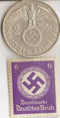 "#-3-F)-*free WW2- *german"" PW""-Solder card in FRANCE camp.+ WWII  coin and stamp"