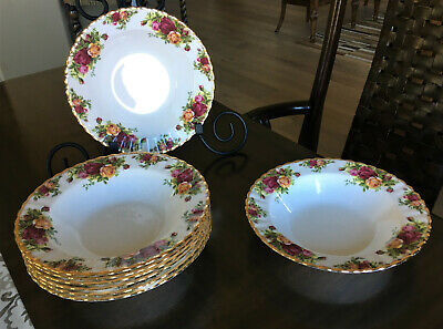 Old Country Roses by Royal Albert, Ltd. - Rimmed Soup Bowls