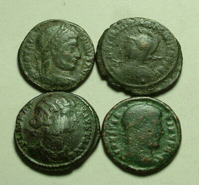 Lot 2 CELTIC Barbarous style of Ancient Roman coins Constantine I Victory shield