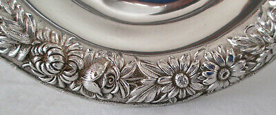 "Vintage Kirk & Son Sterling Silver Repousse Ornate flower 5"" Bowl EXC Great Gift"