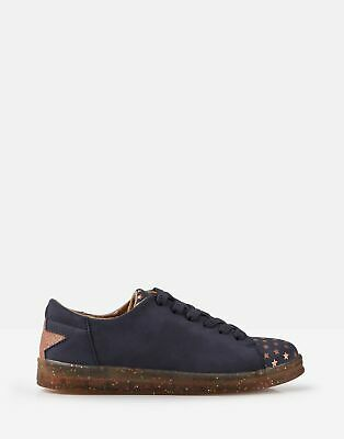 Joules Girls Solena Cupsole Trainers in NAVY Size Junior 3