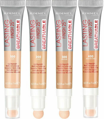 RIMMEL LASTING FINISH 25hr BREATHABLE CONCEALER various shades 7ml