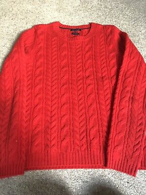 Tommy Hilfiger ladies red wool cashmere jumper size S small