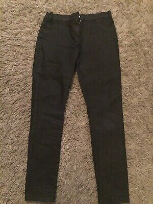 Girls Black Jeans (silky Feel). Aged 10/11years. Ex Cond.