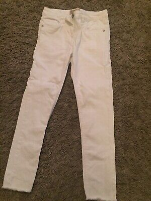 Girls White Jeans From Next Aged 10years. Ex Cond.