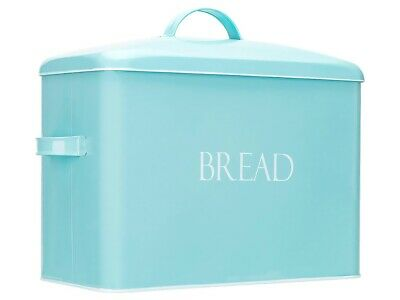 Outshine Mint Vintage Metal Bread Bin, Countertop Space Saving, Extra Large