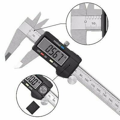 LCD Metal Digital Gauge Vernier Caliper Electronic Micrometer Tool 150mm / 6in''
