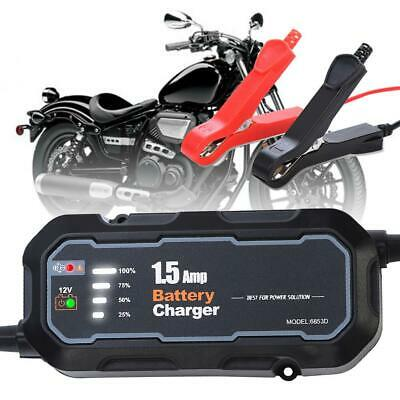 12V Car Motorcycle Truck Battery Three-Stage Maintenance Quick Smart Charger