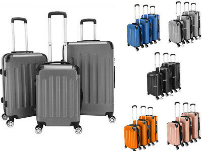 3Pcs ABS Trolley Carry On Travel Luggage Set Bag Spinner Suitcase w/Lock