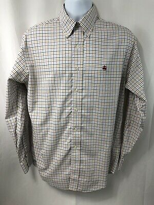 Brooks Brothers Mens Multi-color Original Polo Long Sleeve Plaid Shirt Size M