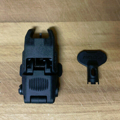 Genuine Magpul MBUS Black Flip-up Iron Sights Front Sight ONLY Part# MAG247 BUIS
