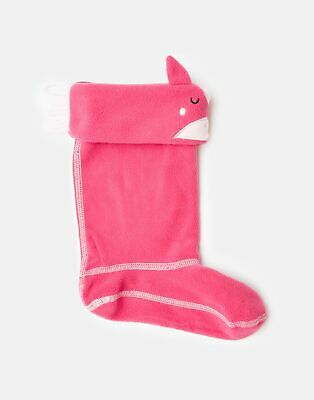 Joules Girls Smile Fleece Welly Liners - PINK HORSE