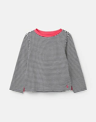 Joules Girls Pascal Striped Lightweight Top 3 12 Years in BLUE WHITE STRIPE