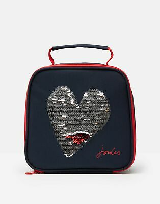 Joules Girls Munch Lunch Bag - BLUE HEART in One Size