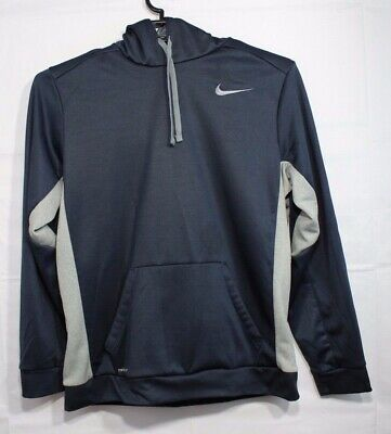 Nike women's therma fit basketball pull over hoodie polyester black size L