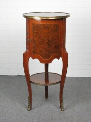 Small Table round Decoration Louis XV Tripod with Drawers Wood Xx Century