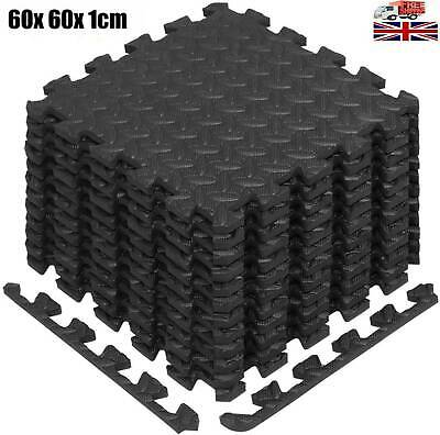 Gym Flooring Mats | Interlocking Puzzle Exercise Mat | Protective EVA Foam Tile