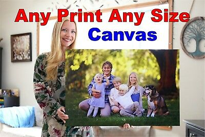 Photo On Canvas Prints Custom Personalised Picture Any Size Museum Quality Image