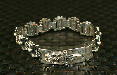 chinese 100% 925 silver flower statue bracelet noble exquisite gift