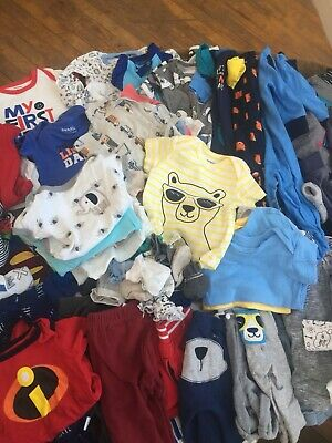 Baby Boy clothing & Diaper lot of 100+ items size 0-3 months Excellent Condition