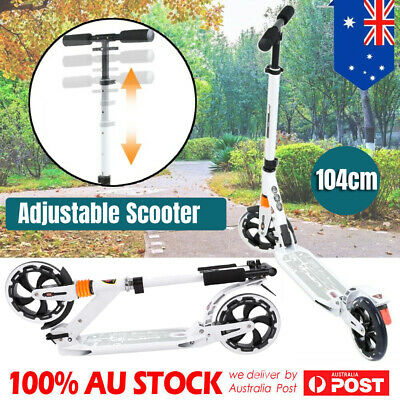 FOLDABLE SCOOTER Big Wheel Suspension For Adult Kids Lightweight Commuter White