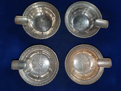 SET OF (4) TOWLE LOUIS XIV STERLING SILVER ASHTRAY 961601 83.9 g