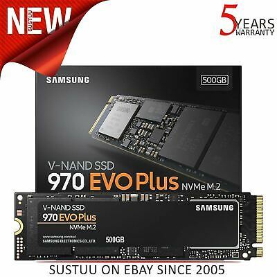 Samsung 970 Evo Plus 500GB NVMe M.2 Solid State Drive Internal SSD Storage PC