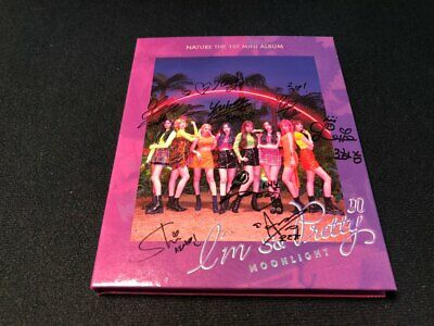 NATURE 1st Mini Album Autograph ALL MEMBER Signed PROMO ALBUM KPOP