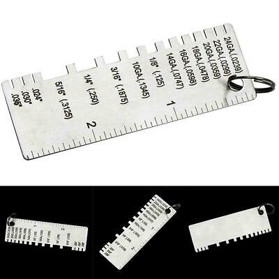 Wire Gauge Thickness Measuring Tool Wire/Sheet Metal Gage-Measurement-Plate F2N9