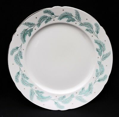 "Shelley English Bone China, Serenity, 8"" Salad Plate, 13791 Gold Rim"