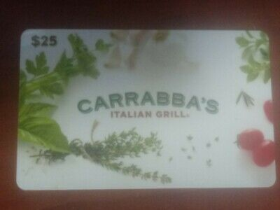 25.00 Carrabba's, Outback, Bonefish, Fleming's, Roy's Gift Card