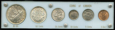 1937 Canada Silver Complete Coin Set from Penny to Silver Dollar