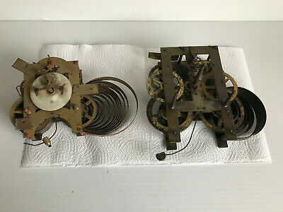 Two Vintage American Clock movements- Spares or Repair.