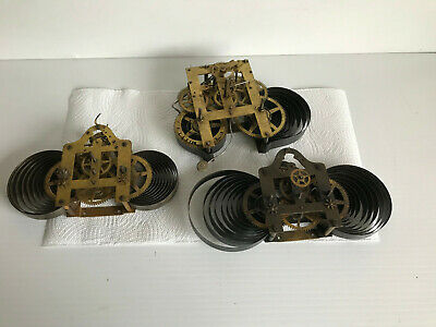 Three Vintage American Clock movements- Spares or Repair. Rare Holloway & Co