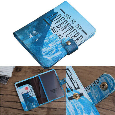PU Passport Holder Travel Cartoon ID Card Case Protector Organizer Cover Wallet