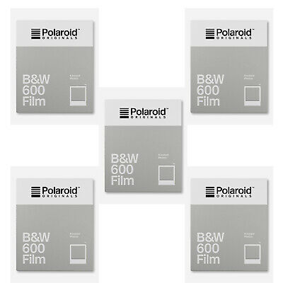 Polaroid Originals B&W 600 Instant Camera Film (8 Exposures/Pack of 5)