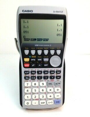 Casio Graphing Calculator #FX-9860G II W/Cover Tested!