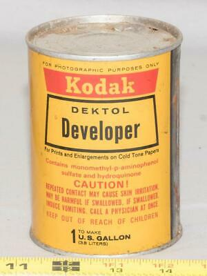 Vintage Kodak Dektol Developer Can Makes 1 Gallon tthc
