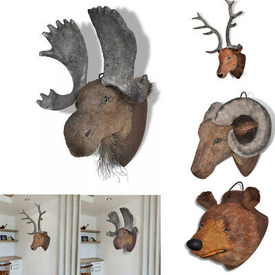 Wall Mounted Stag Animal Moose Deer Head Decoration Stag Ornament Antler 3 style
