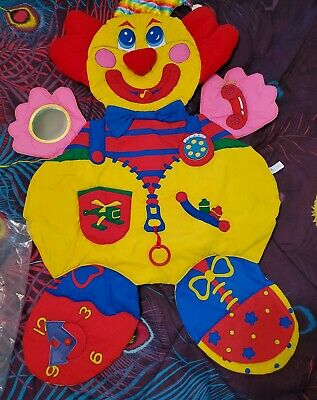 Avon Vintage 1995 Playtime Clown Busy Blanket Baby Large New