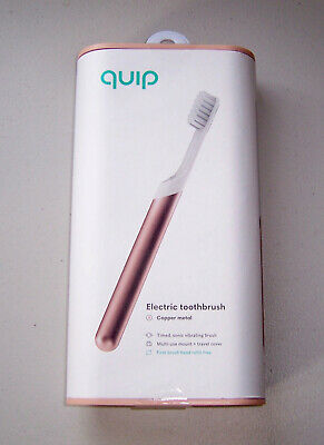 Brand New Quip Electric Toothbrush, Copper Metal, New/Unopened, Cover Included
