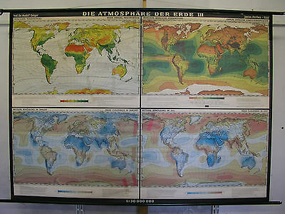 Schulwandkarte Atmosphere Der Earth Wind Sun T3 226x162 1964 Vintage World Map