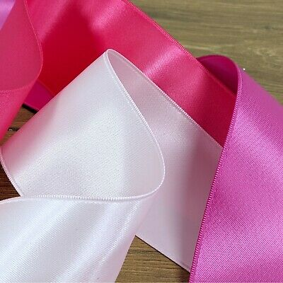 Pinks & Purples Stunning Satin Ribbon 3mm-50mm Wide Thin Double Sided Cut Per 1M