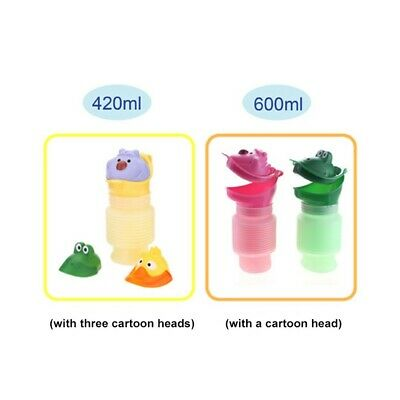 Portable Kids Toilet Potty Urinal Bucket Large Capacity 420ml-600ml Stretchable